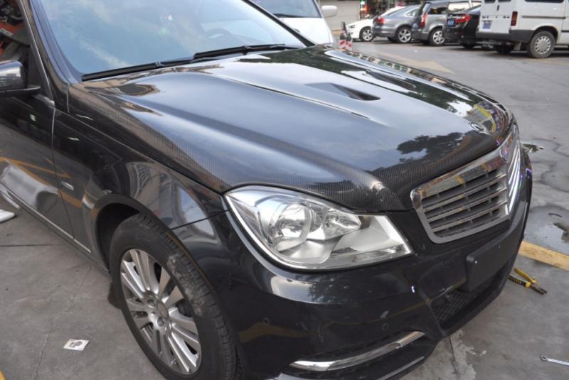 FS: carbon fiber hood for 2011 Benz W204-w204-11-5.jpg