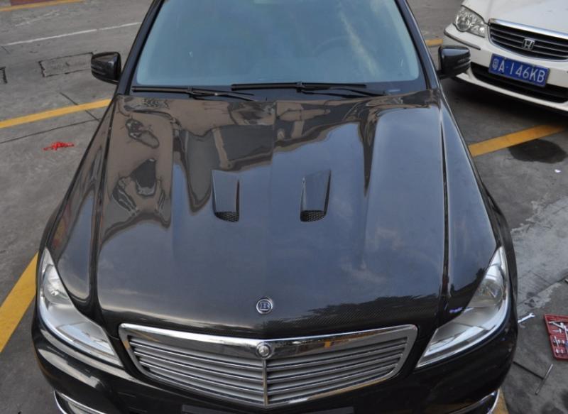 FS: carbon fiber hood for 2011 Benz W204-4.jpg