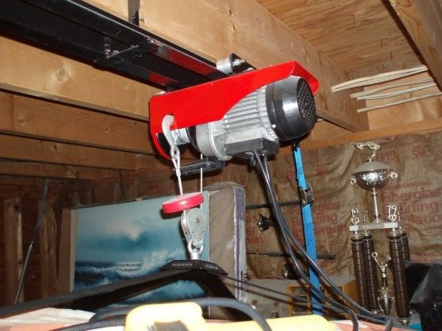 Diy hardtop hoist r129 hard top with one man one hand for Diy motorized pulley system