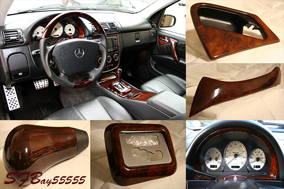 For SALE: Burl Wood interior upgrade set+ Passenger locking drawer - w163 Mercedes ML-01-summary.jpg
