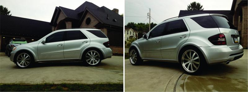 06 Ml 350 W164 Lowered With Custom Wheels Mercedes Benz