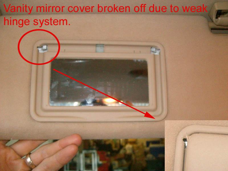 Vanity mirror car