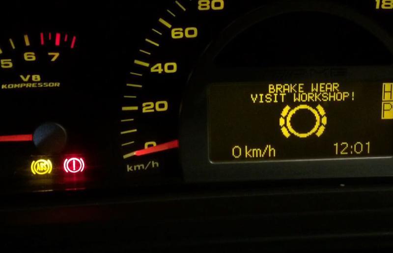 ESP, BAS, ABS, Brake Booster, Brake wear  No speedometer! Please