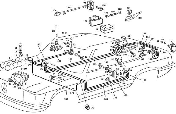 Mercedes Benz Vacuum Diagram