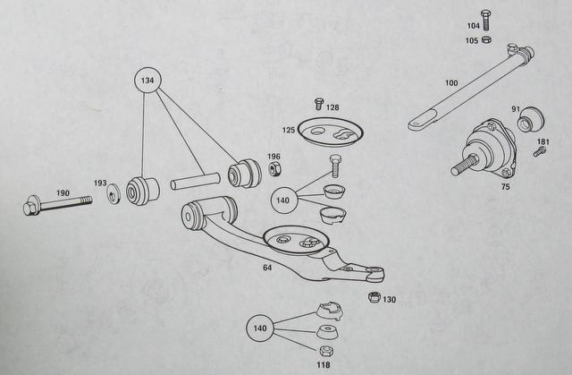 85 300d Turbo Suspension Parts Diagram