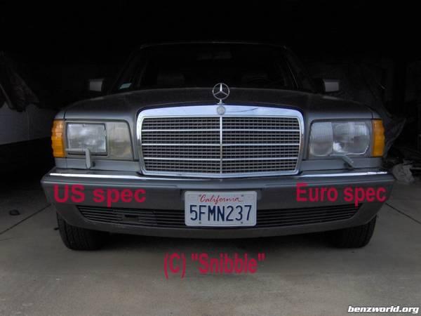 Euro Spec Vs Us Spec Headlights Pm on 1991 Mercedes Benz 190e Parts
