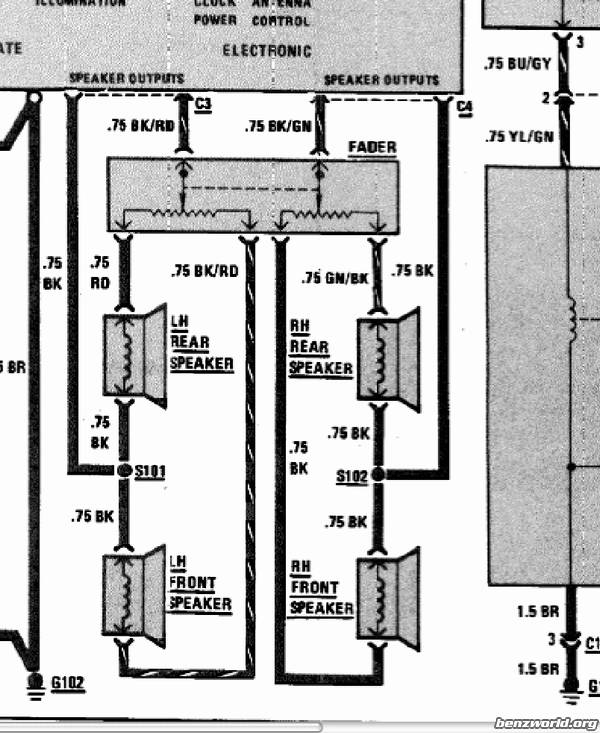 Speaker Wire Diagram 300sd Mercedes 1985 - Electrical Drawing Wiring ...