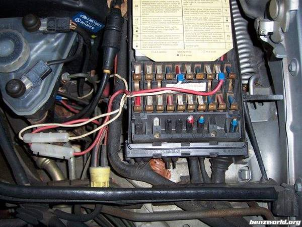1985 500sel Fuse Map