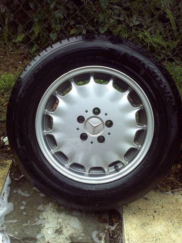 """VERY RARE W140 EURO GRAY MARKET 16"""" RIMS WITH CLOSE TO NEW TIRES-1381178941894.jpg"""