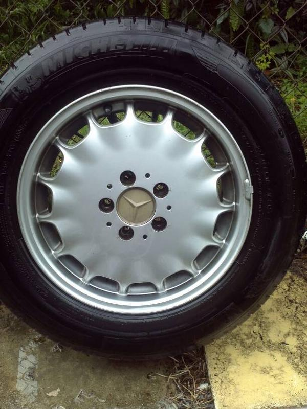 """VERY RARE W140 EURO GRAY MARKET 16"""" RIMS WITH CLOSE TO NEW TIRES-1381178972201.jpg"""