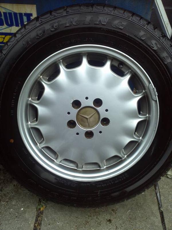 """VERY RARE W140 EURO GRAY MARKET 16"""" RIMS WITH CLOSE TO NEW TIRES-1381179009434.jpg"""