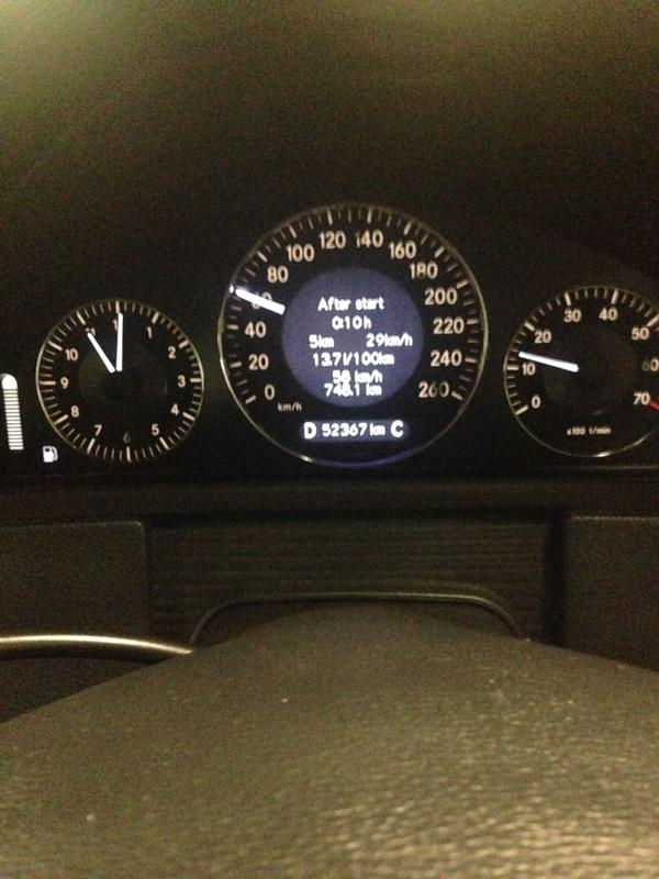 W209 My Cer Odometer Light Not Working Well Pls Help 140626