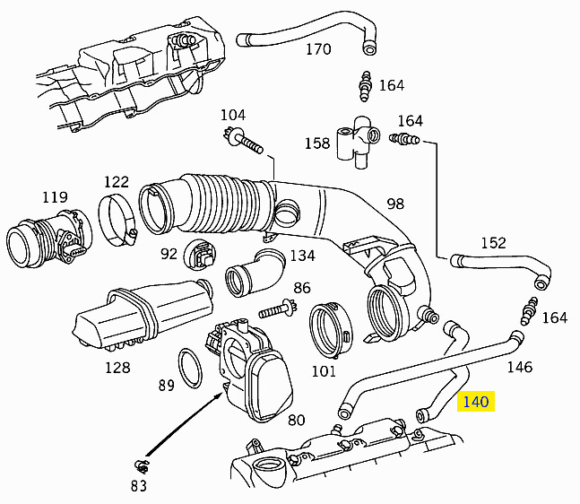 2005 Mercedes E320 CDI Engine Diagram as well Mercedes 300SD Vacuum Diagram furthermore Smart Car Vacuum Diagram additionally Mercedes Benz Fuel Injector Removal likewise 1999 Mercedes Benz E320 Engine Diagram. on w210 engine diagram