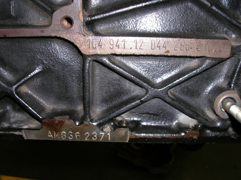 Engine number on a M104 992 | Mercedes-Benz Forum