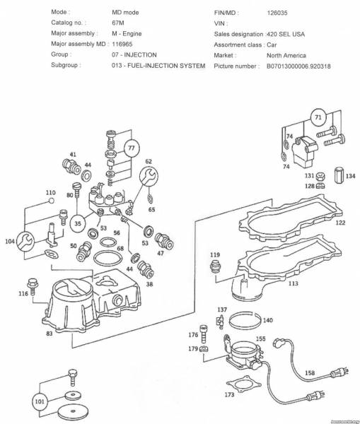 Mercede Benz 450sl Fuel System Diagram
