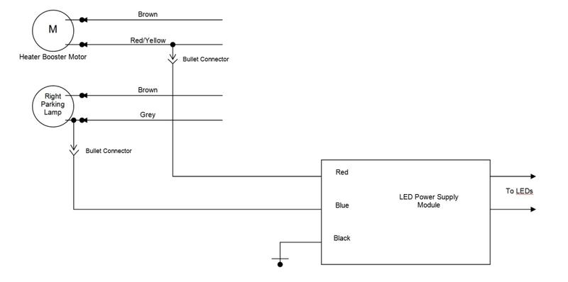 LED DRL Install MercedesBenz Forum – Led Drl Lights Wiring Schematic
