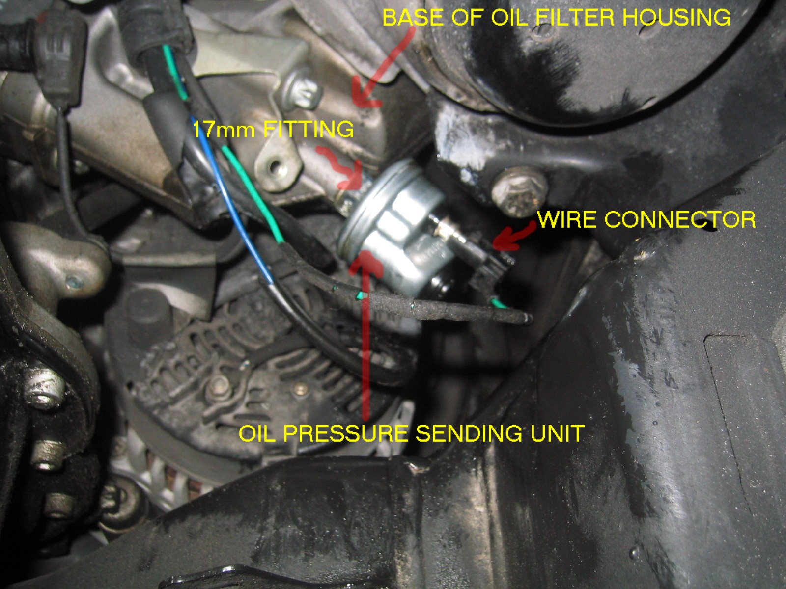 photo diy oil pressure sending unit mercedes benz forum rh benzworld org Oil Pressure Sending Unit Replacement Oil Pressure Sending Unit Replacement