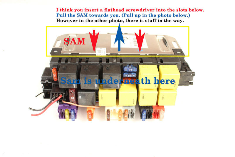 How To Remove The Front Drivers Sam Module Mercedes