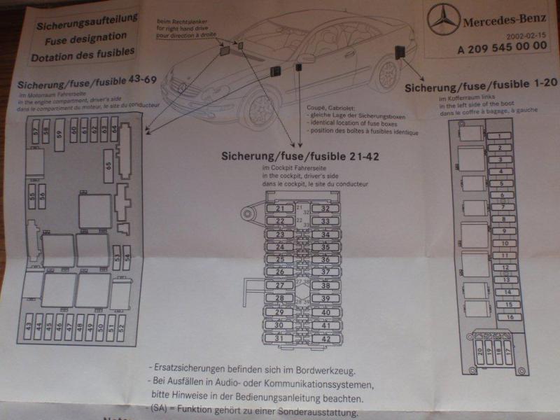 W209 2004 CLK Fuses | Mercedes-Benz ForumBenzWorld.org