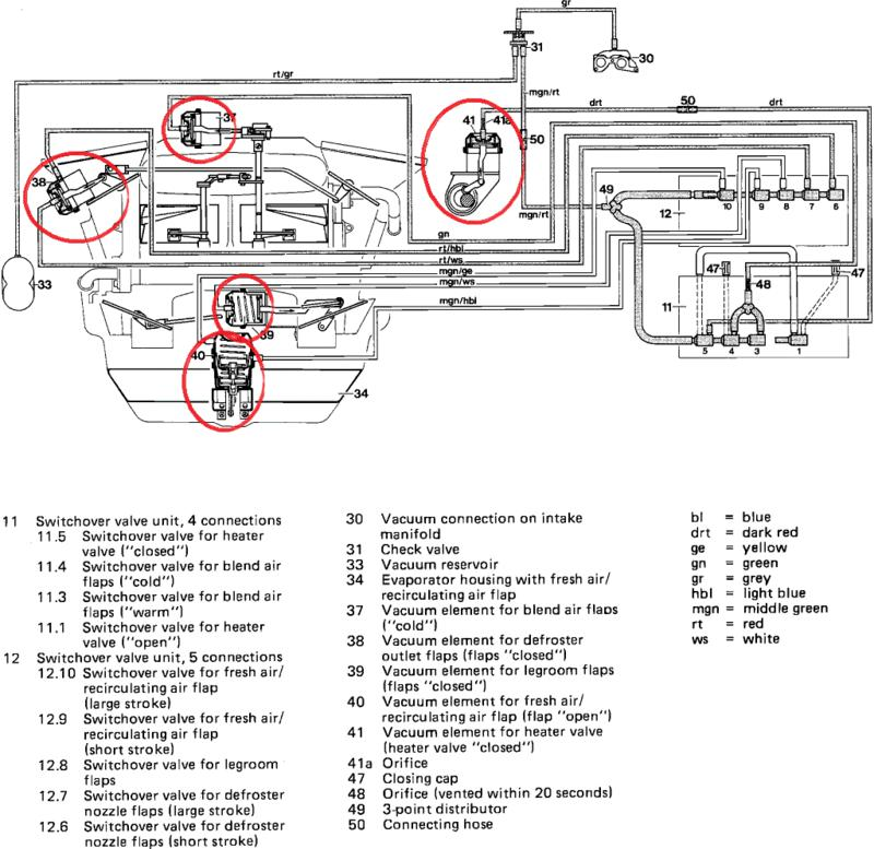 climate control, hvac restoration parts list  mercedesbenz forum, wiring diagram
