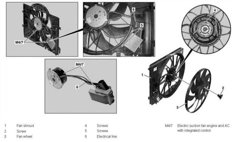 Fan Module Upgrade W203 Radiator Electric Fan Mercedes