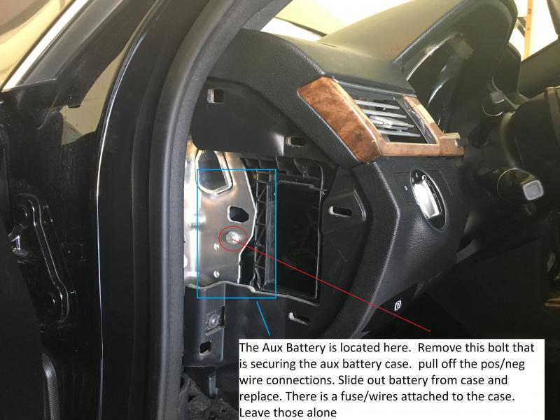 2015 e350 auxillary battery location