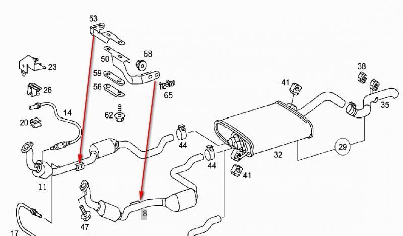 Transmission Exhaust Bracket Mercedes Benz Forum