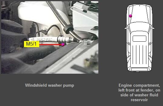 D No Flow Windshield Washer Pump on Mercedes E320 Wiring Diagram