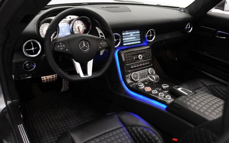 illuminate door sills out & illuminate floor in-2012-brabus-mercedes-benz-sls-amg