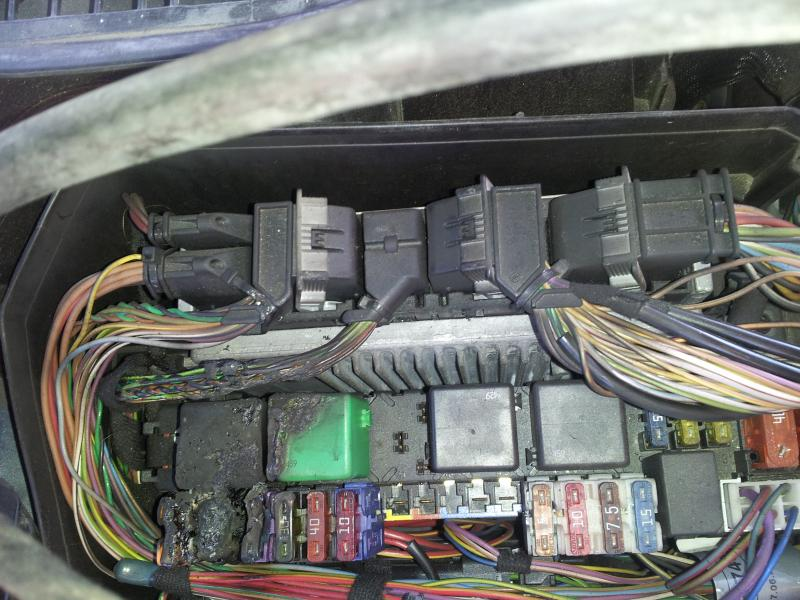 fuse box burned out w220 s500