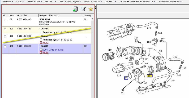W211 Throttle Body Diagram