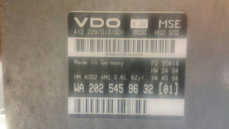 C36 ECU into E320 5 SPD Auto Transplant | Mercedes-Benz Forum