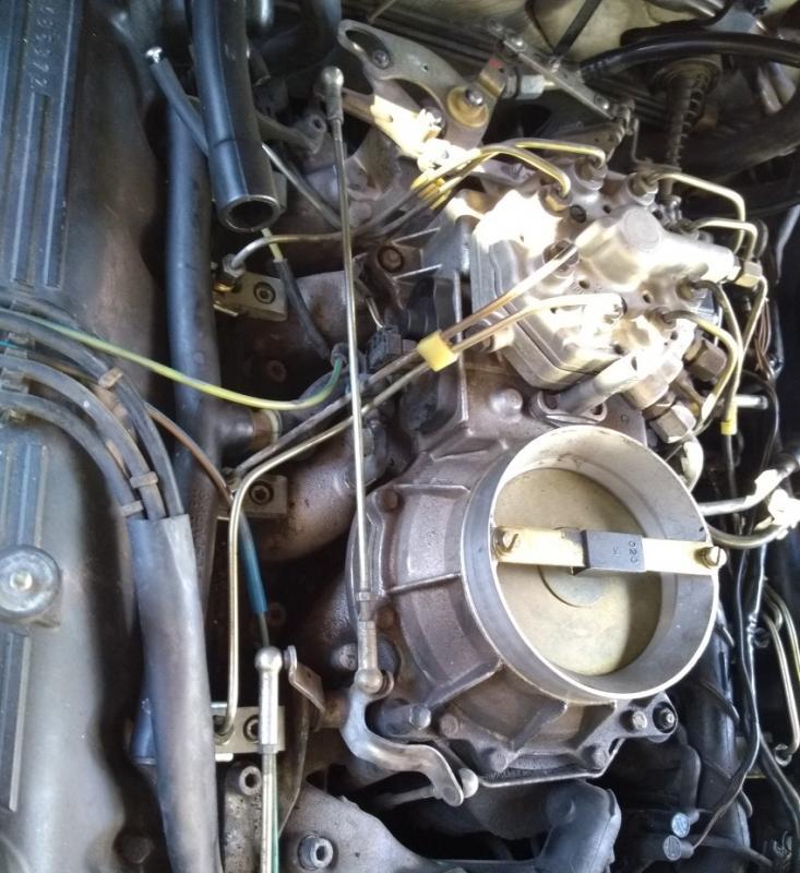 Mercedes 450 380 560 SLC SL Cylinder head FUEL INJECTOR RETAINING CLIP /& screw