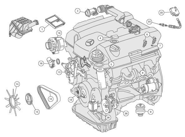 Mercedes Benz 2006 C280 Fuel System Diagram