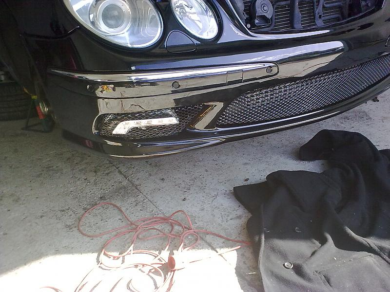 replacing W211 fog lamps with W212 LED lights - MBWorld org
