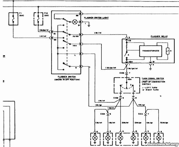 54984 location signal hazard flasher relay 75 23_1591541_99200540250pm location of signal hazard flasher relay in '75 450sl mercedes Universal Turn Signal Wiring Diagram at gsmx.co