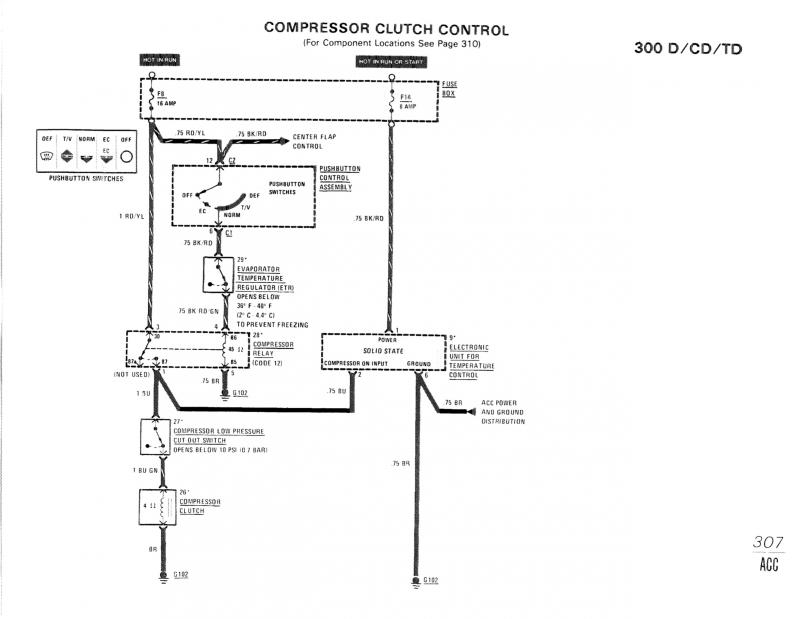 car c compressor relay diagram a/c compressor wiring diagram? - mercedes-benz forum 1998 deville a c compressor wiring diagram