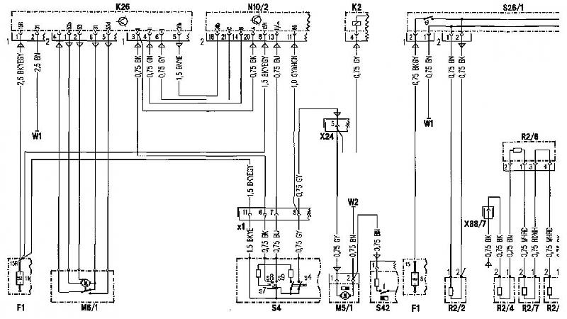 Mercedes Sel Speaker Wiring Diagram Free Wiring Diagrams