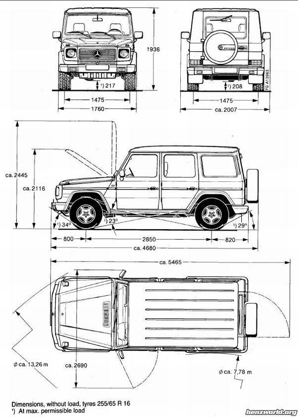 Technical drawing of G-wagen wanted... - Mercedes-Benz Forum