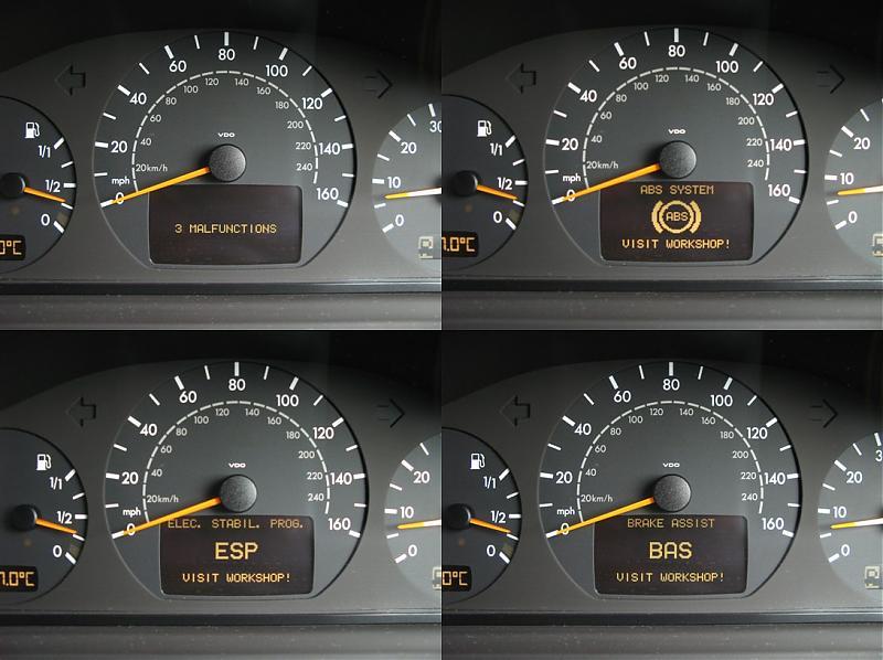 ABS, BAS, ESP pop up - Mercedes-Benz Forum