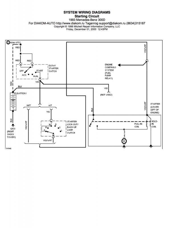 ignition wiring diagram mercedes benz forum. Black Bedroom Furniture Sets. Home Design Ideas