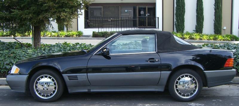 1990 mercedes benz 500sl convertible for sale mercedes. Black Bedroom Furniture Sets. Home Design Ideas