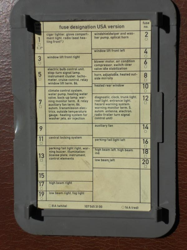 86 Mercedes Fuse Box - Example Electrical Wiring Diagram •