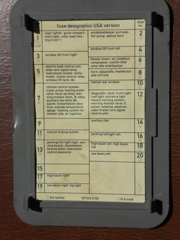 87 fuse chart mercedes benz forum rh benzworld org