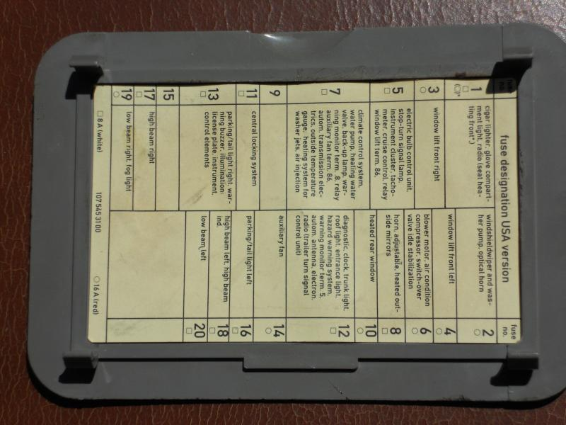 darn fuse... - page 2 - mercedes-benz forum 560sl fuse box 1986 mercedes benz 560sl fuse box