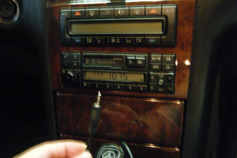 Diy 1996 1998 w210 becker radio auxillary ipod hack with for Mercedes benz radio code