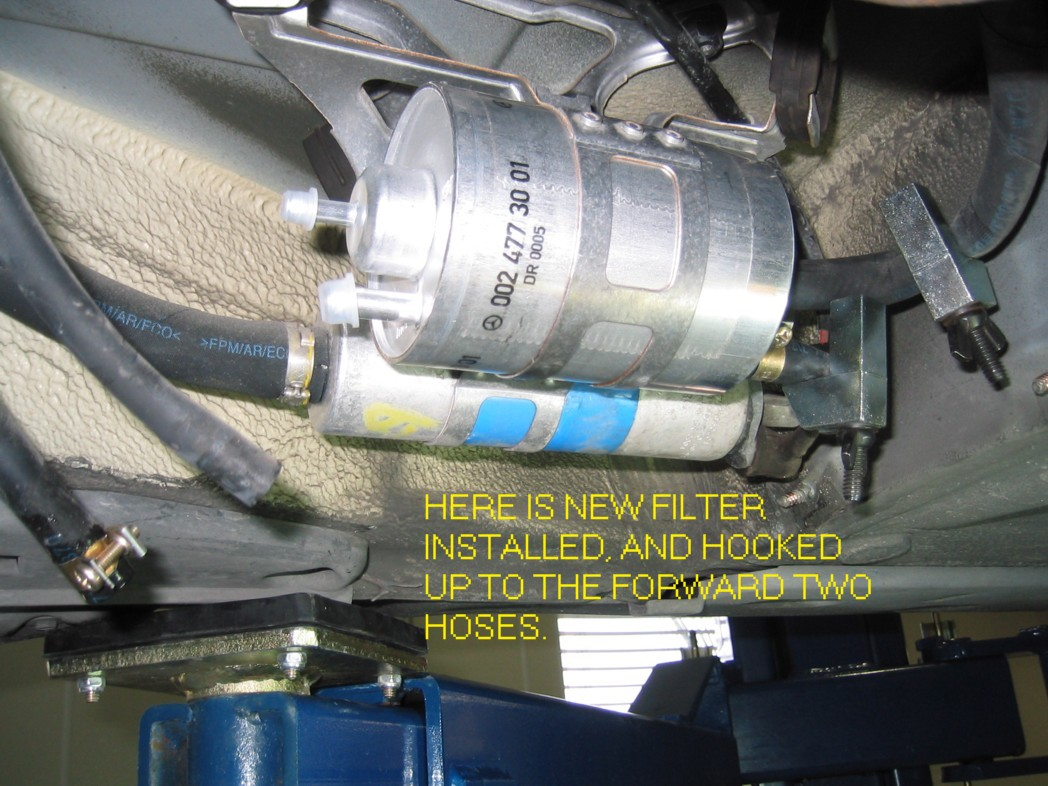 photo diy of fuel filter change | mercedes-benz forum  benzworld