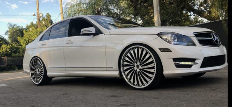 """2013 C250 on 22"""" Forgiato - Mercedes-Benz Forum"""