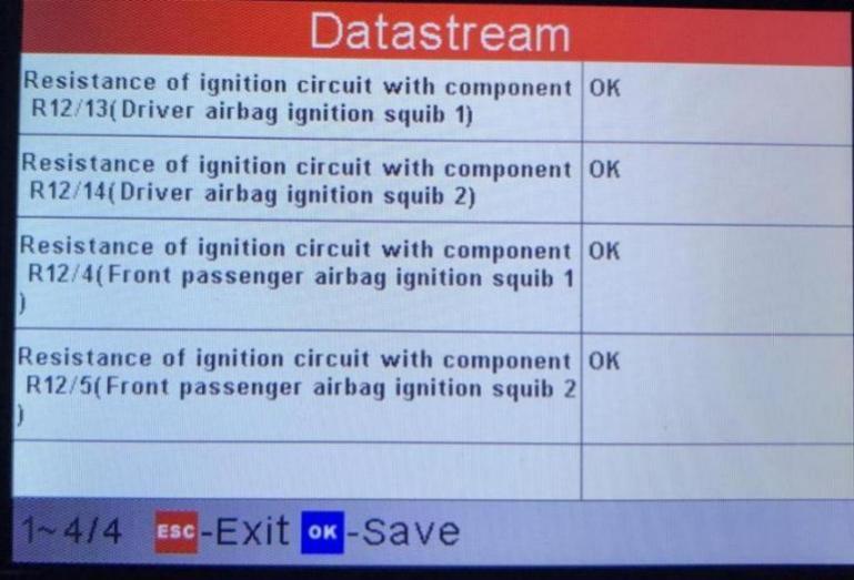 driver airbag ignition squib 1
