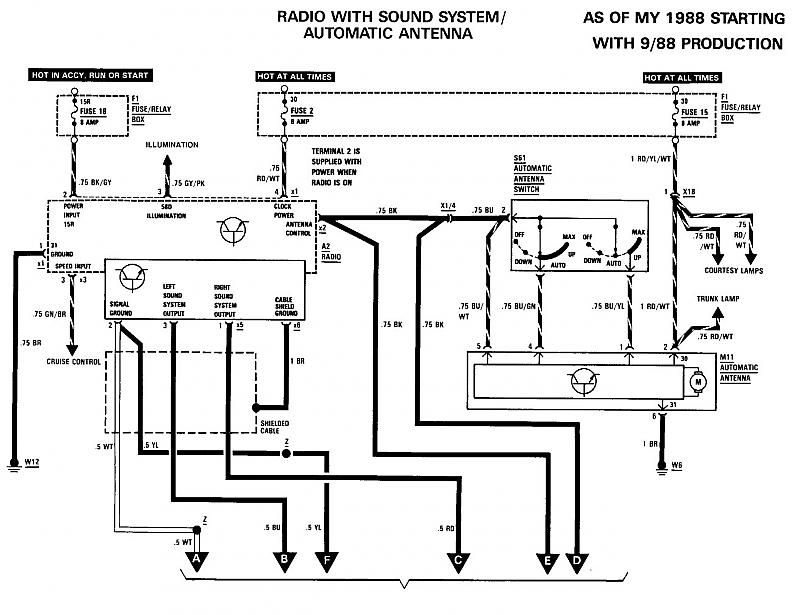 263789d1254588284 factory speaker wire diagram 84931364 need wiring diagram for speakers page 2 mercedes benz forum 1991 Mercedes 300SE at edmiracle.co